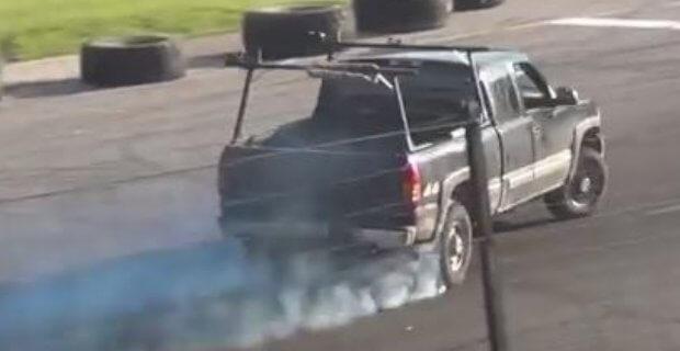 Chevy Pickup Drifting