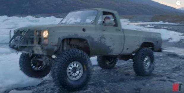 Chev pickup in Alaska