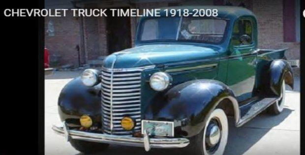 Chevy pickup timeline 1918 2008